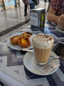 Cappuccino and Pastel de Nata
